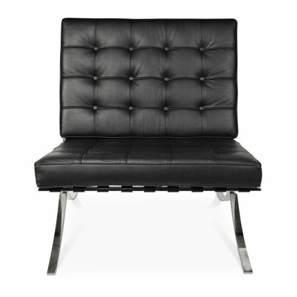 Leather Chair Chrome Legs | Wayfair