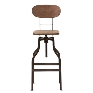 Jann Adjustable Height Swivel Bar Stool by Williston Forge