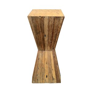 Reviews Reclaimed Pedestal End Table by Asian Art Imports