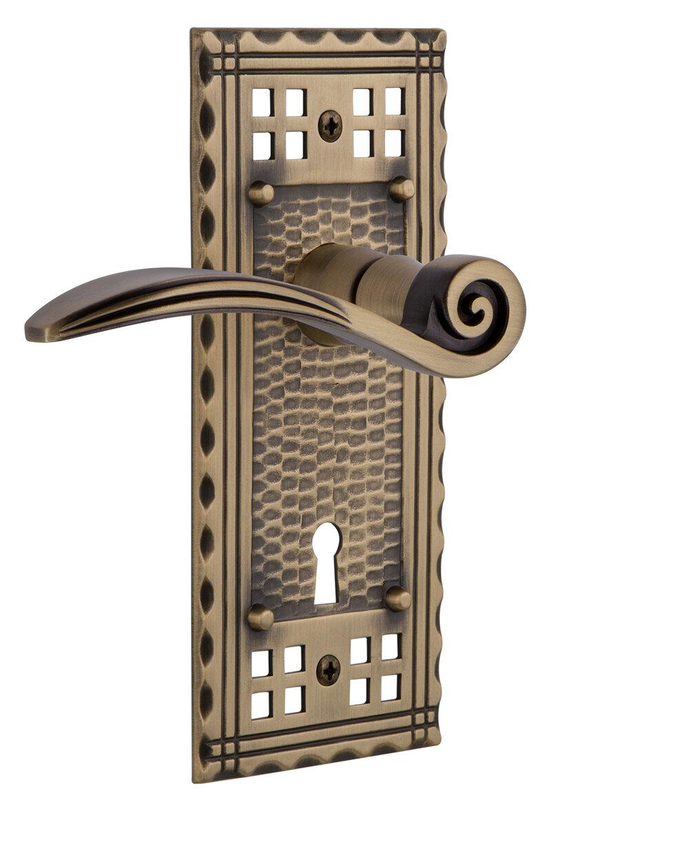 Nostalgic Warehouse Swan Single Dummy Door Lever With Keyhole Craftsman Long Plate Wayfair
