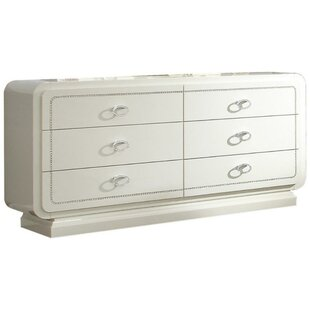 Leatrice Wooden 6 Drawer Double Dresser
