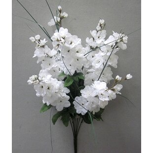 7 Stems Artificial Full Blooming Delphinium Flowers, Flower Buds and Greenery