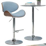 Harbison Adjustable Height Swivel Bar Stool by George Oliver