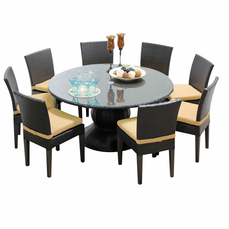Napa 9 Piece Dining Set with Cushions
