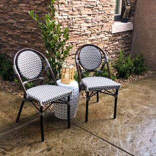 Happel Stackable Side Patio Dining Chair by Highland Dunes