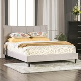 Annyah Solid Wood and Upholstered Platform Bed by Latitude Run
