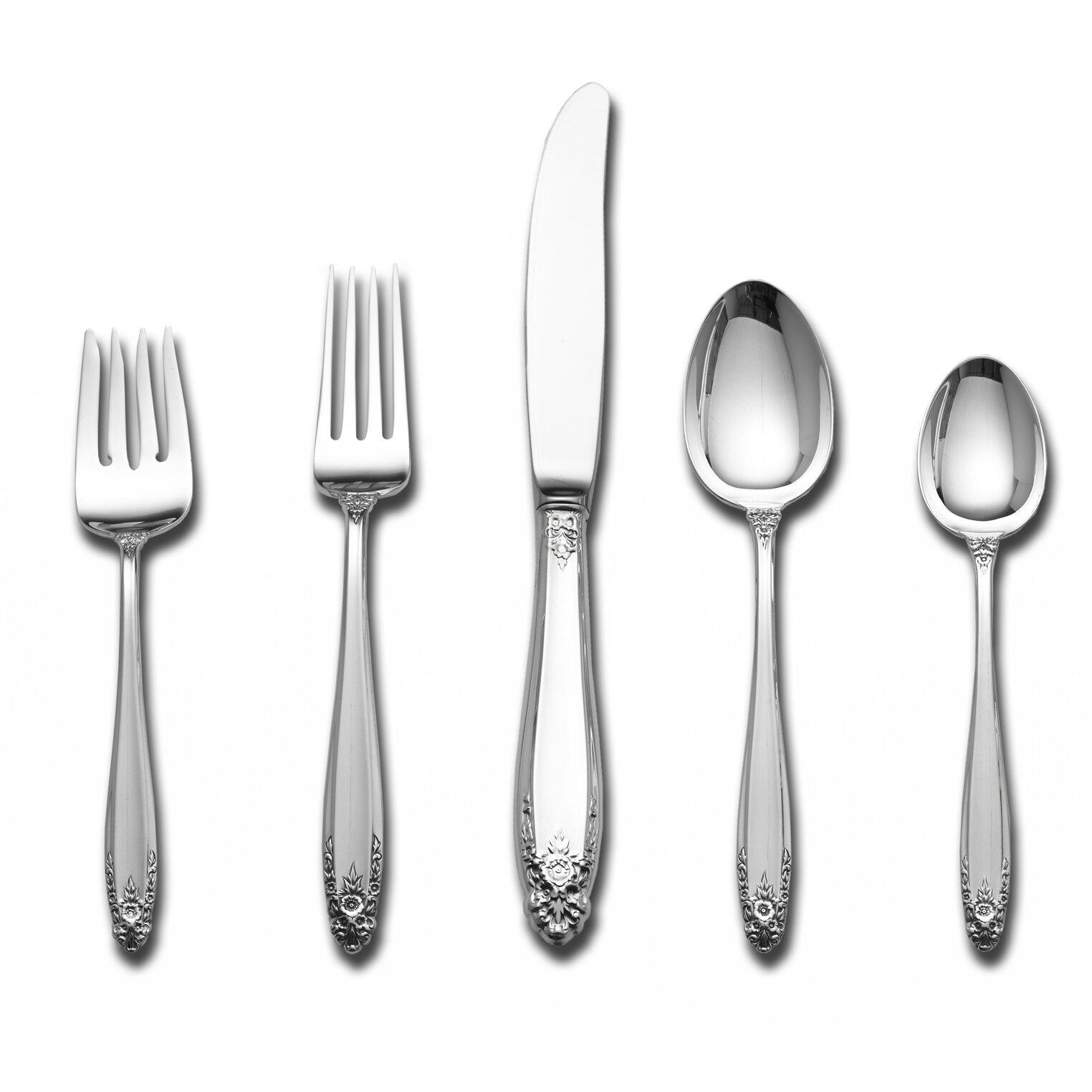 International Silver Prelude 5 Piece Sterling Silver Flatware Set Service For 1 Wayfair