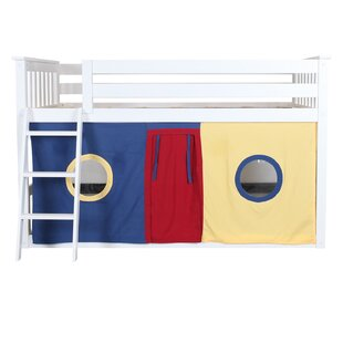 Affordable Fairhill Twin Low Loft Bed with Underbed Curtains by Harriet Bee Reviews (2019) & Buyer's Guide