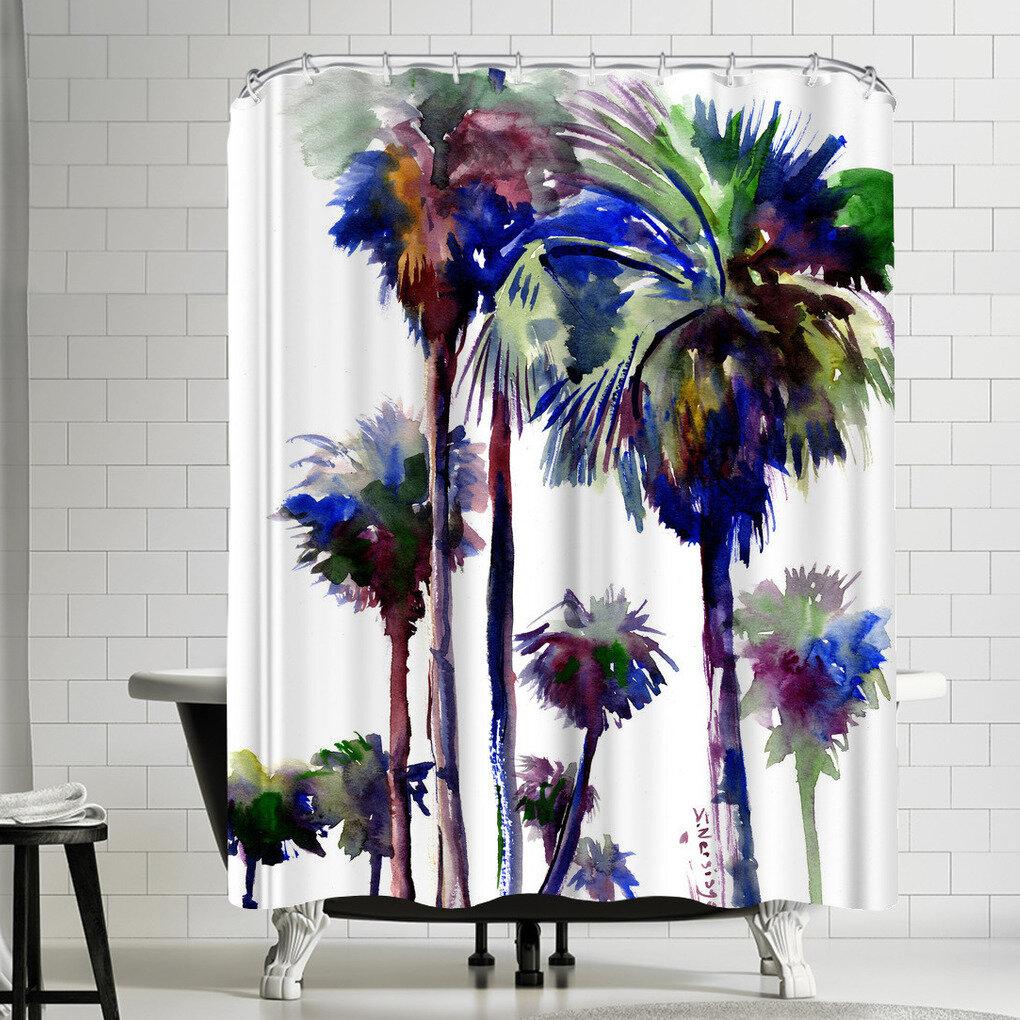 East Urban Home Suren Nersisyan Palm Trees Single Shower Curtain Wayfair