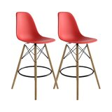 Amazing Modern Red Bar Counter Stools Allmodern Gmtry Best Dining Table And Chair Ideas Images Gmtryco