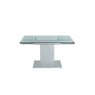 Slim Extendable Dining Table Whiteline Imports