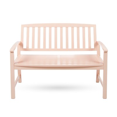 Beachcrest Home Leora Acacia Wood Garden Bench Color: Coral