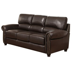 Bargain Boley Leather Sofa by Fleur De Lis Living Reviews (2019) & Buyer's Guide