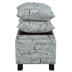 Madison Park Script Cube Ottoman by Madison ..