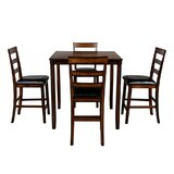 Delya 5 - Piece Counter Height Dining Set by Red Barrel Studio®