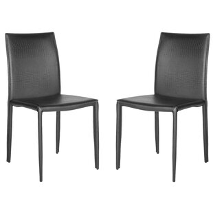 Cadwallader Genuine Leather Upholstered Dining Chair (Set of 2)