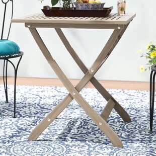 Les Outdoor Foldable Wood Bistro Table