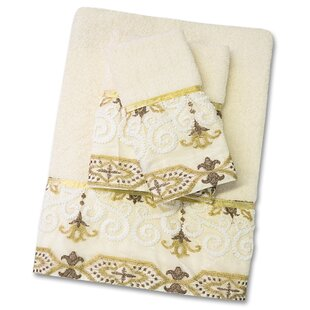 Savoy 3 Piece Towel Set by Sweet Home Collection #2