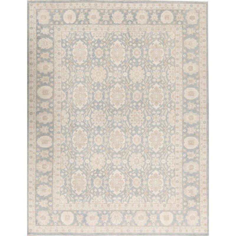 Bokara Rug Co Inc Ziegler Oriental Hand Knotted Wool Light Blue Area Rug Wayfair