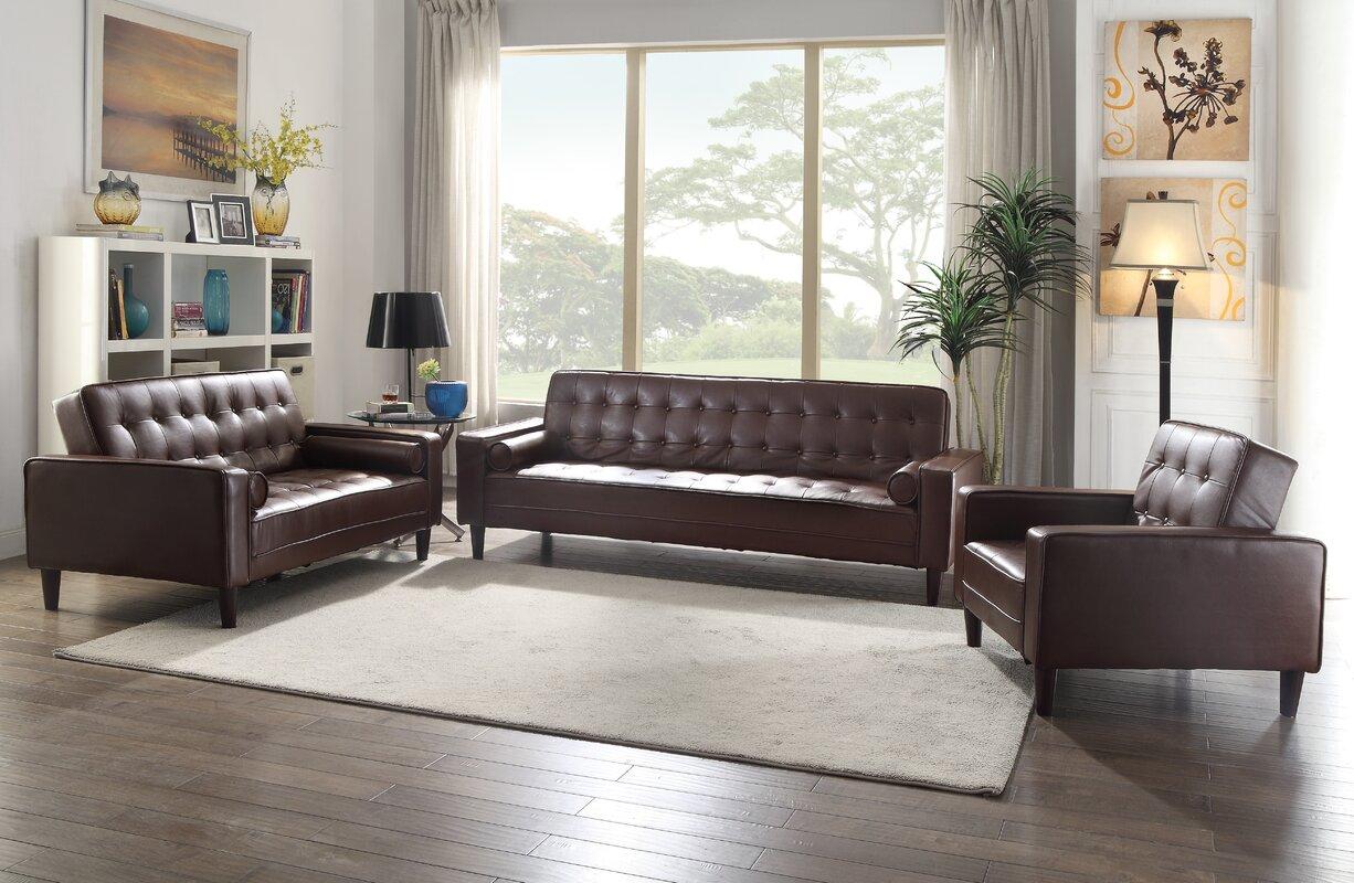 Reddin Faux Leather Sleeper Sofa Reviews Joss Main ~ Faux Leather Sleeper Sofa