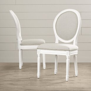 Alpes Upholstered Dining Chair (Set of 2) Lark Manor