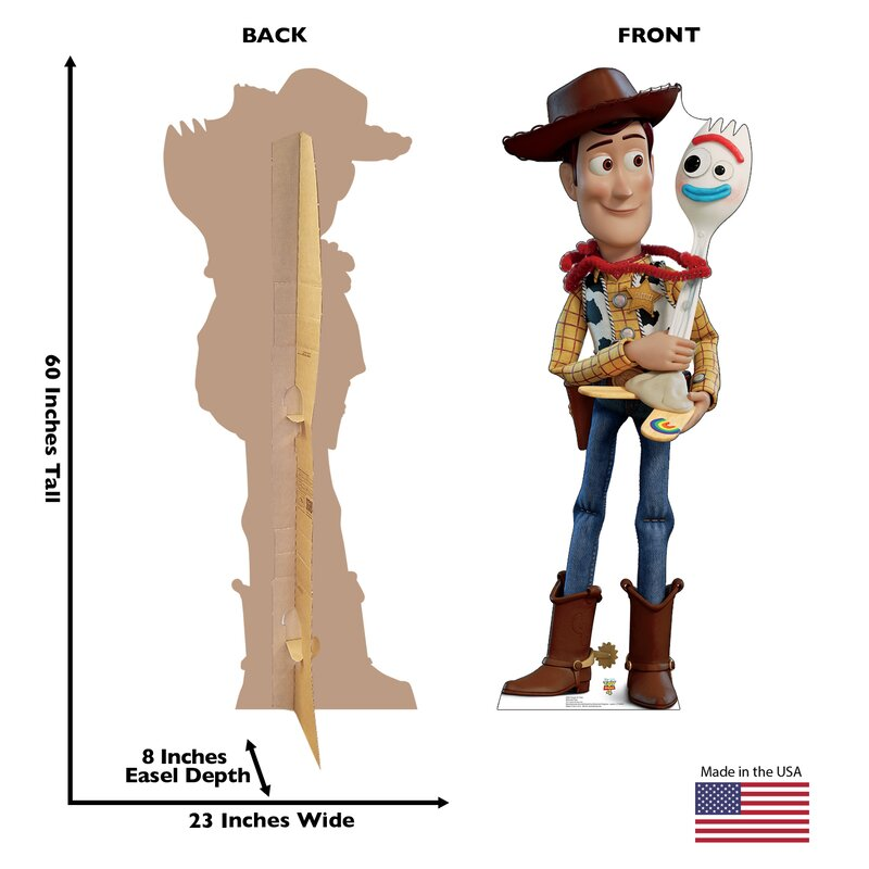 TOY STORY 4 2994 LIFE SIZE STANDUP//CUTOUT BRAND NEW WOODY /& FORKY