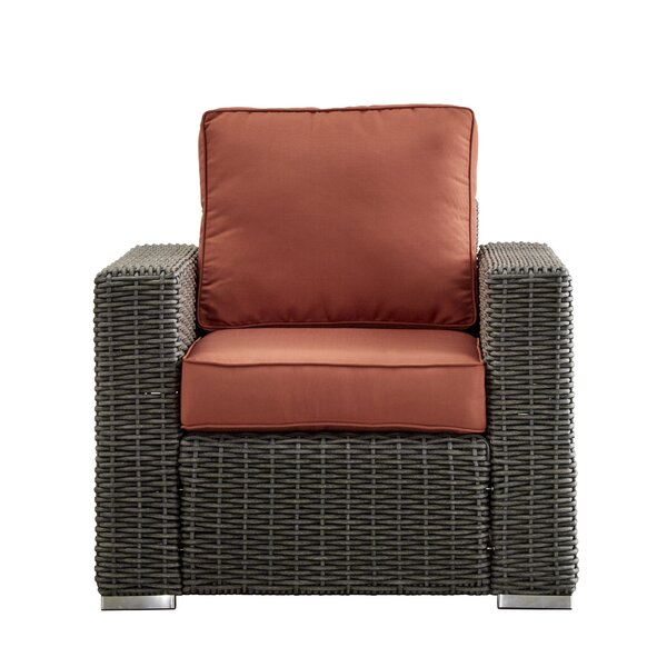 Darby Home Co Rathdowney Wicker Outdoor Occasional Arm Chair With Cushions  U0026 Reviews   Wayfair Part 82