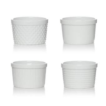 Elite Global Solutions Ramekins Brazil 0 13 Qt Melamine Round Ribbed Ramekin Wayfair