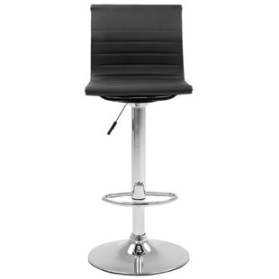 Buchanan Adjustable Height Swivel Bar Stool Set of 2 by Orren Ellis