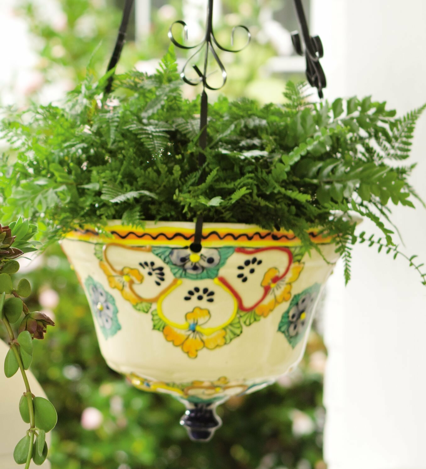 Plow & Hearth Talavera Ceramic Hanging Planter & Reviews | Wayfair