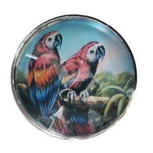 Bird Glass Mushroom Knob