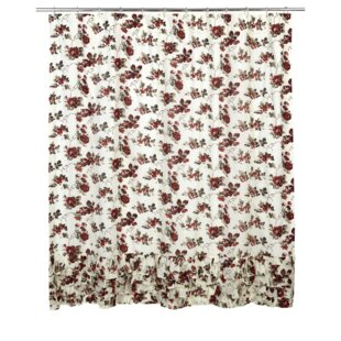 Thea Cotton Ruffled Shower Curtain by August Grove