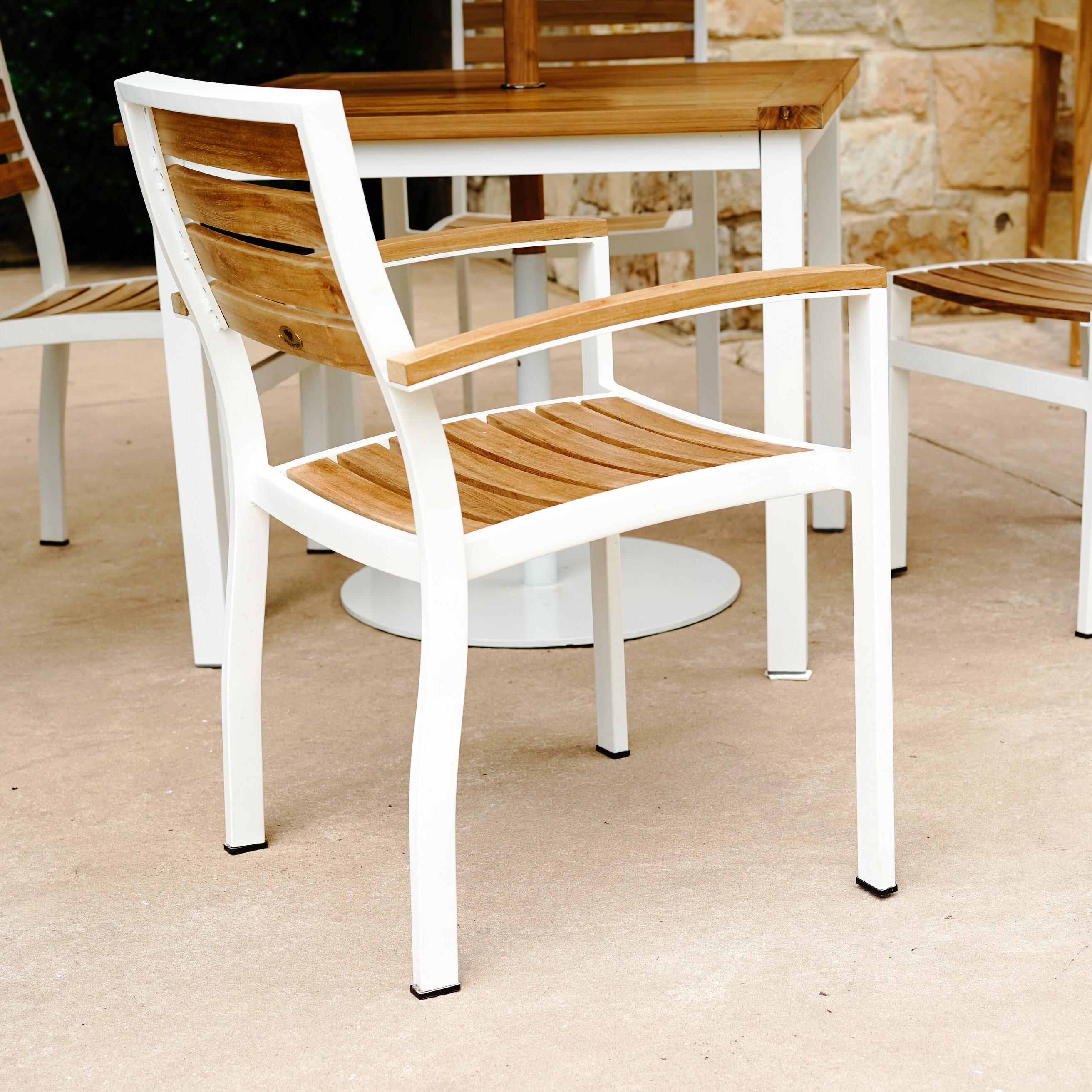 Beespoke Catalina Outdoor Stacking Teak Patio Dining Chair Wayfair