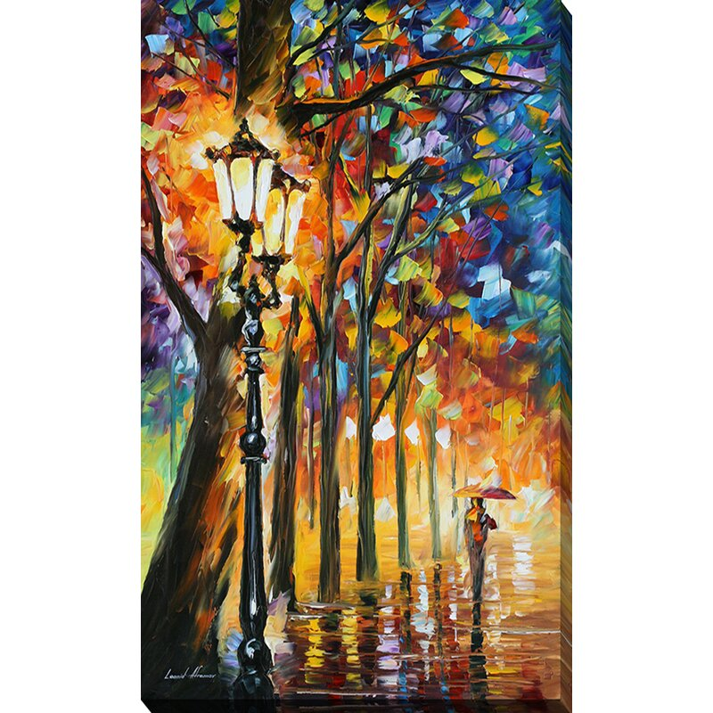 Pictureperfectinternational The Soul Of The Park By Leonid Afremov Painting Print On Wrapped Canvas Wayfair