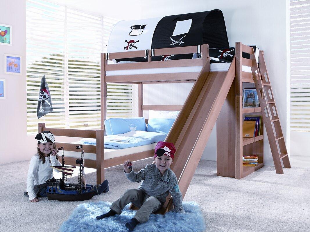 relita l f rmiges etagenbett charlotte mit rutsche 90 x. Black Bedroom Furniture Sets. Home Design Ideas