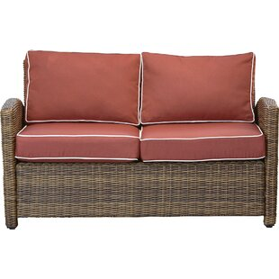 Lawson Wicker Loveseat with Cushions by Birch Lane™ Heritage