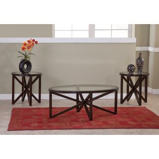Obadiah 3 Piece Coffee Table Set Latitude Run