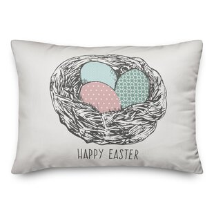 Kerrigan Happy Easter Eggs Lumbar Pillow