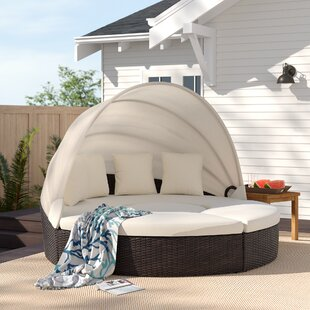 Antigua Patio Daybed with Cushions by Rosecliff Heights