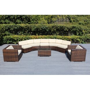 Baril Curved 8 Piece Sectional Set with Cushions
