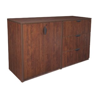 Read Reviews Linh Stand Up Side to Side Storage Cabinet 3-Drawer Wood Lateral Filing Cabinet by Latitude Run