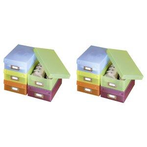 10-tlg. Aufbewahrungsbox Multi aus Kunststoff von Wenko