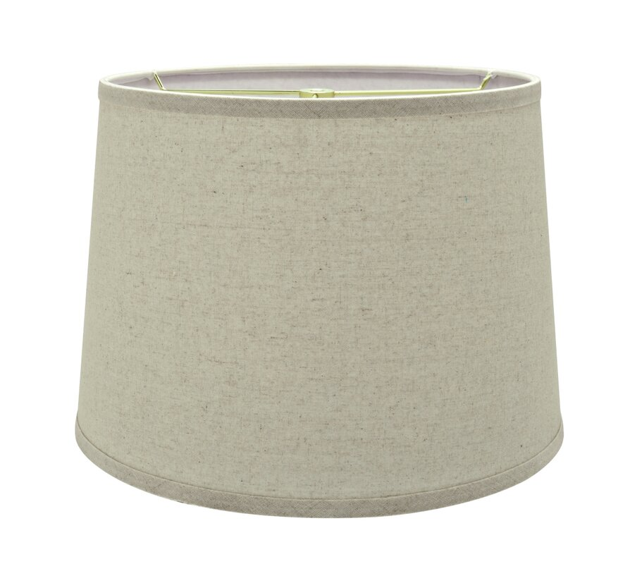 Transitional hardback 14 linen empire lamp shade