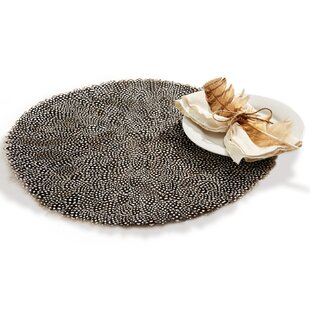 Millstone Guinea Fowl Feather Placemat (Set of 6)