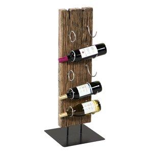 Wagon Wheel 5 Bottle Tabletop Wine Rack by Loon Peak