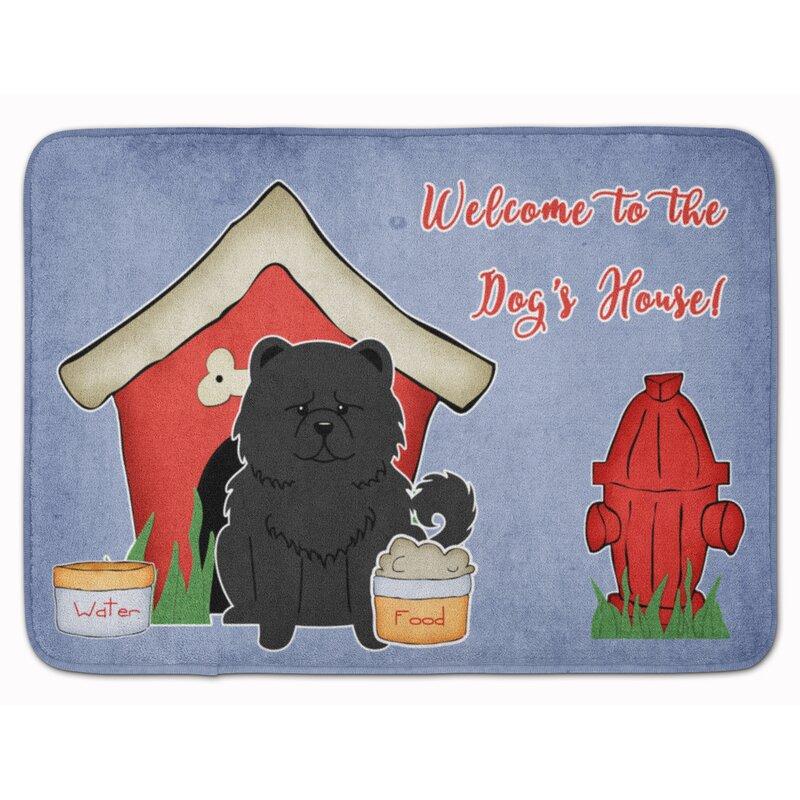 East Urban Home Dog House Chow Chow Rectangle Microfiber Non Slip Bath Rug Wayfair