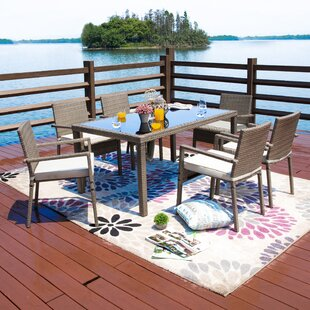 Moxley 7 Piece Dining Set with Cushions