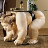 Basho the Sumo Wrestler Sculpture End Table by Design Toscano