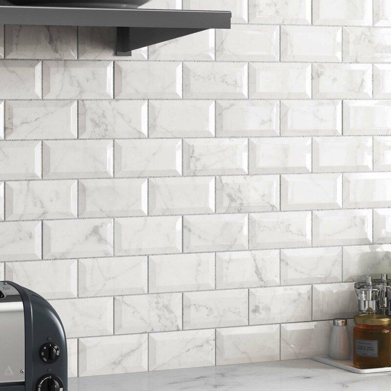 Elitetile Karra Carrara 3 Quot X 6 Quot Ceramic Subway Tile In