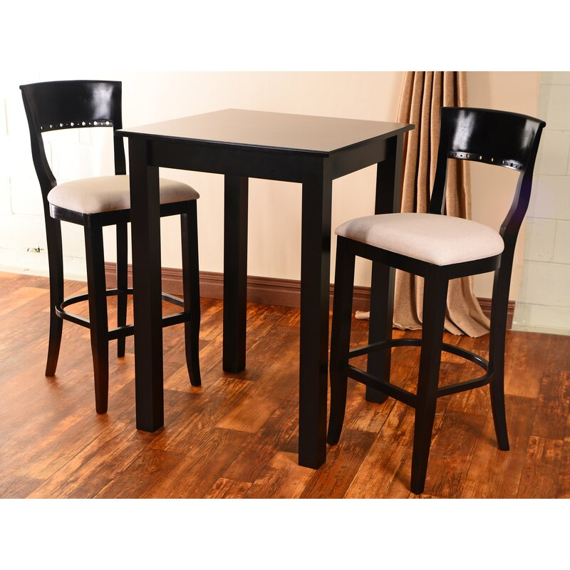 Darby Home Co Ealy 3 Piece Pub Table Set Wayfair